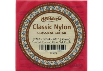 D'Addario Classic Nylon Normal Tension Clear Nyl Treble si - J2702 - Klasik Gitar Tek Tel (Sarımsız)