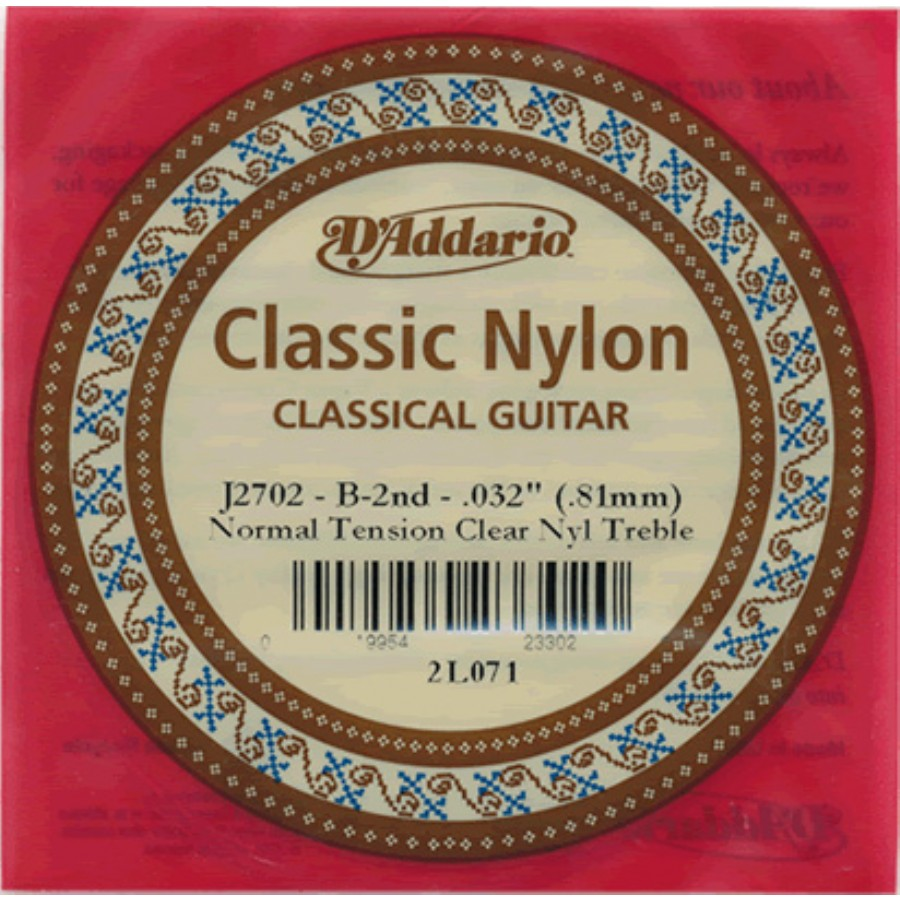 D'Addario Classic Nylon Normal Tension Clear Nyl Treble