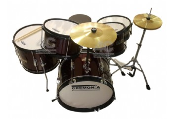 Cremonia JDSET-60DRM 5-PC Junior Drum DRW - Metalik Kırmızı - Junior Davul Set