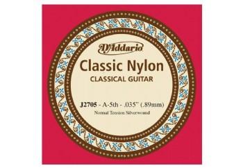 D'Addario Classic Nylon Normal Tension Silverwound La - J2705 - Klasik Gitar Tek Tel (Sarımlı)