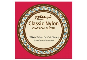 D'Addario Classic Nylon Normal Tension Silverwound Mi - J2706