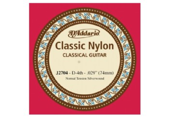 D'Addario Classic Nylon Normal Tension Silverwound Re - J2704
