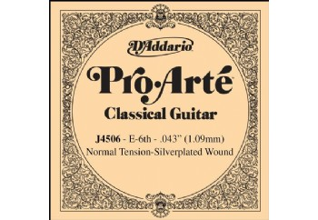 D'Addario Classic Guitar Normal Silverplated Wound Single E-Mi - J4506 - Klasik Gitar Tek Tel