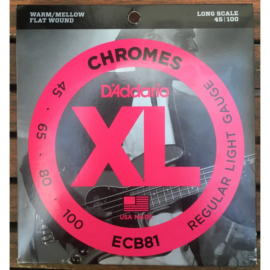 D'Addario ECB81 Chromes Bass, Light, 45-100, Long Scale - Fırsat Reyonu