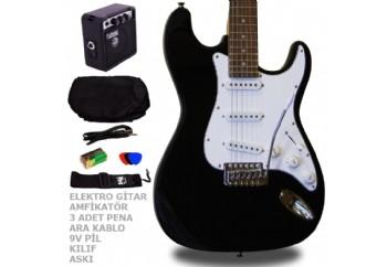 Manuel Raymond MRE3SET BK - Siyah - Elektro Gitar Seti