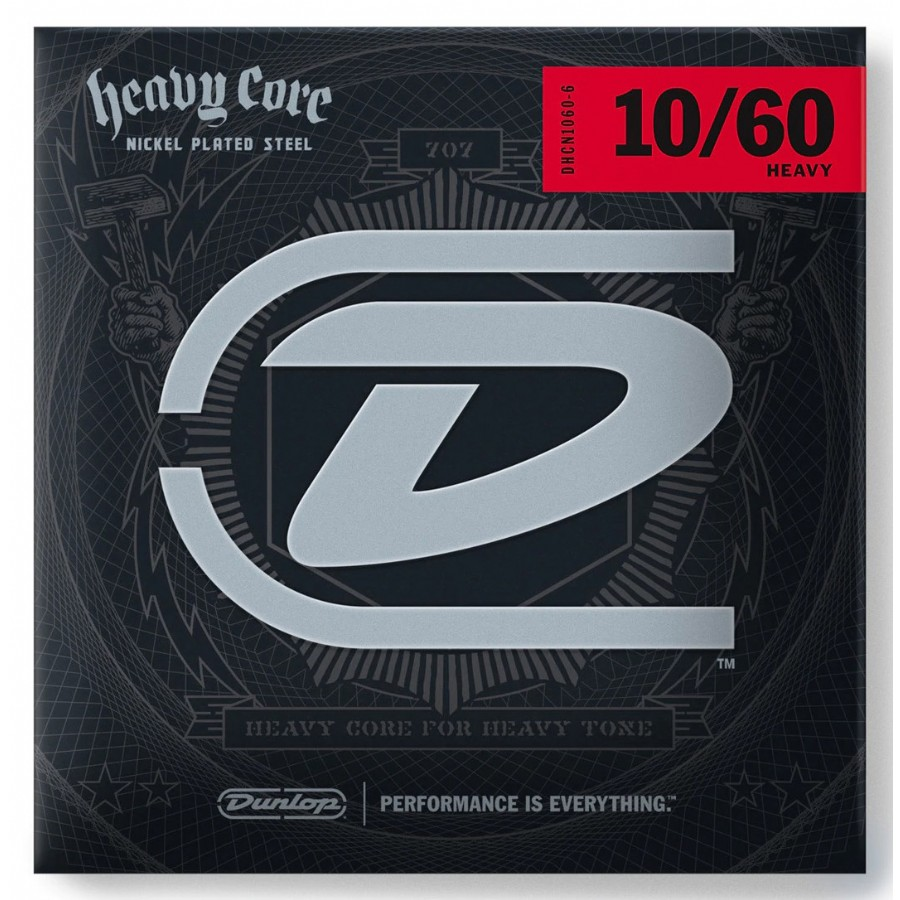 Dunlop DHCN1060-6 Heavy Core Fat Bottom Nickel Guitar Strings