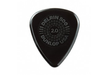 Jim Dunlop Prime Grip Delrin 500 Picks 1 Adet - Siyah 2.0 mm - Pena