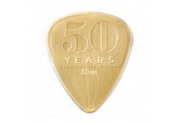 Jim Dunlop 50th Anniversary Gold Nylon Pick 0.60 mm