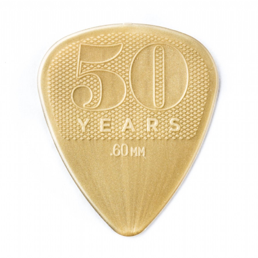 Jim Dunlop 50th Anniversary Gold Nylon Pick