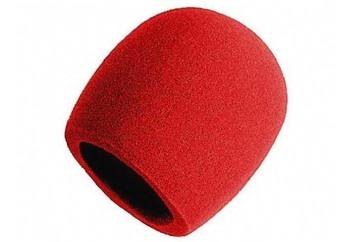On-Stage ASWS58 Foam Windscreen Red - Mikrofon Süngeri