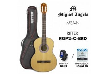 Miguel Angela PK-MA3-N - Klasik Gitar Seti