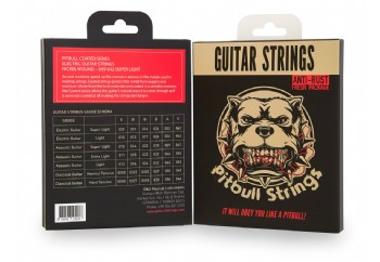 Pitbull Strings Coated Series CEG SL Super Light Takım Tel - Elektro Gitar Teli 009-042