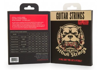 Pitbull Strings Coated Series CEG L Light Takım Tel - Elektro Gitar Teli 010-046