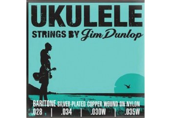 Jim Dunlop DUY304 Baritone Pro Silver Plated Copper on Nylon Ukulele Strings - Bariton Ukulele Teli