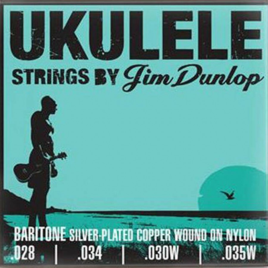 Jim Dunlop DUY304 Baritone Pro Silver Plated Copper on Nylon Ukulele Strings