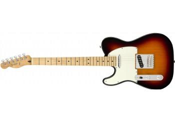 Fender Player Telecaster Left-Handed 3-Color Sunburst - Maple - Solak Elektro Gitar