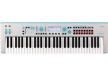 Korg KROSS 2 Neon 61-Key Workstation Limited Edition Blue/Gray