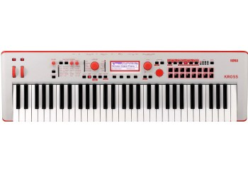 Korg KROSS 2 Neon 61-Key Workstation Limited Edition Red/Gray
