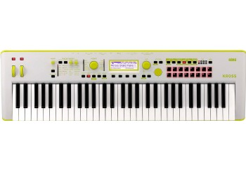 Korg KROSS 2 Neon 61-Key Workstation Limited Edition Yellow/Gray