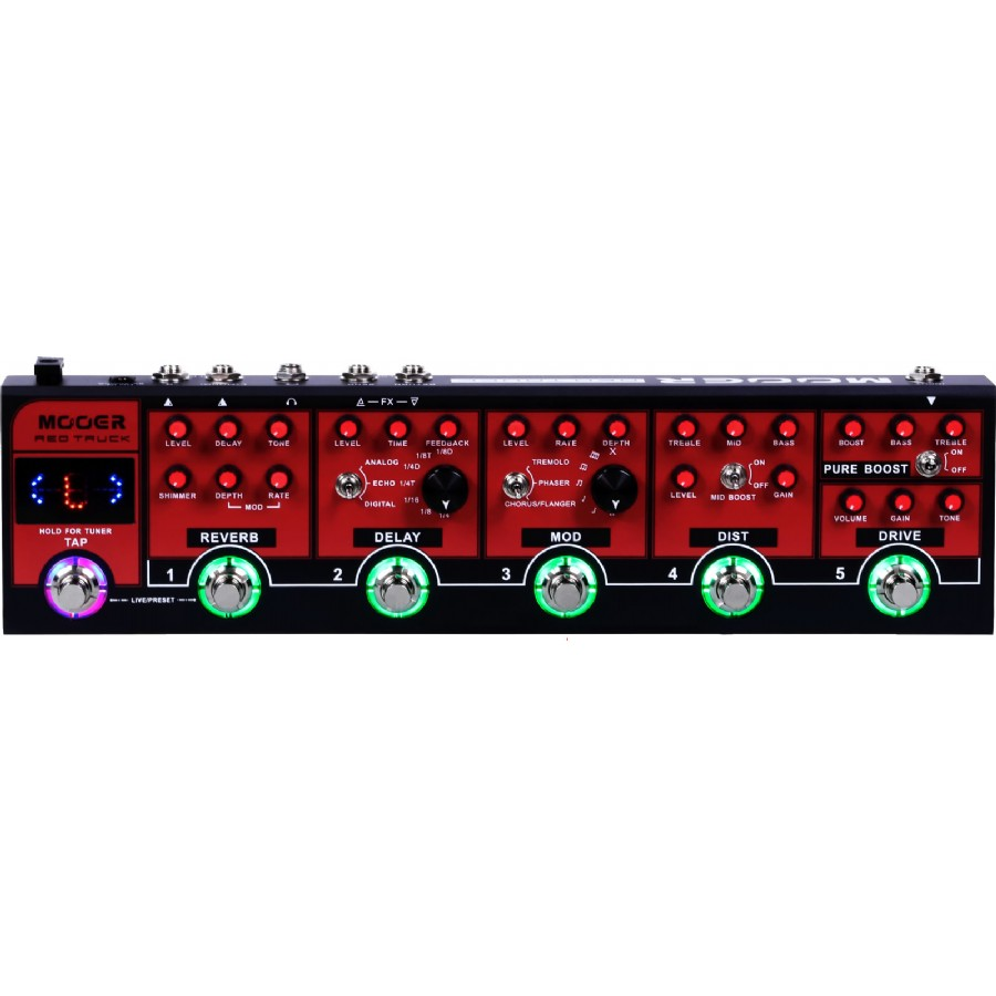 Mooer CPT1 Live Serisi Red Truck