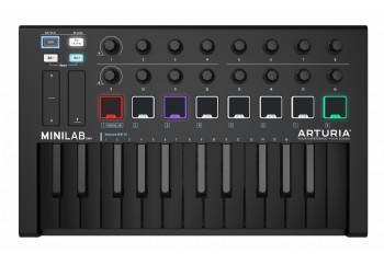 Arturia MiniLab MK II DeepBlack Edition - MIDI Klavye - 25 Tuş