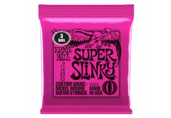 Ernie Ball 3223 Super Slinky Nickel Wound Electric Guitar Strings - Elektro Gitar Teli 009 (3 Set)