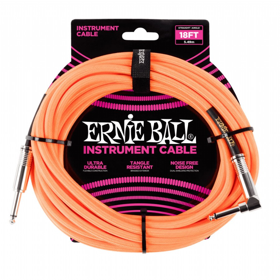 Ernie Ball P06079  Braided Straight / Angle Instrument Cable