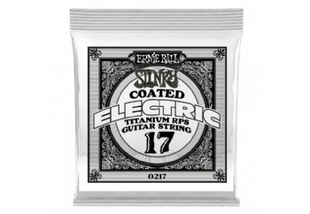 Ernie Ball P00217 .017 Slinky Coated Titanium Reinforced Plain Electric Guitar Strings - Elektro Gitar Tek Tel 017