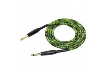 KIRLIN IWB-201BFG 3M Black/Green - Enstrüman Kablosu (3 mt)