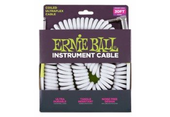Ernie Ball 6045 30' Coiled Straight / Angle Instrument Cable - Enstrüman Kablosu (9 mt)
