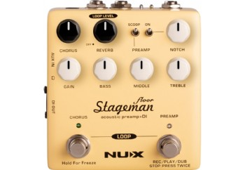 Nux NAP-5 Stageman Floor Acoustic Preamp and DI with Effects - Akustik Gitar Preamp