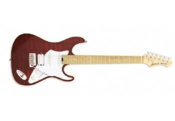 Aria 714-MK2 RBRD (Ruby Red) - Elektro Gitar