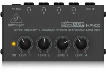 Behringer HA400 - Ultra Kompakt 4 Kanallı Stereo Kulaklık Amplifikatörü