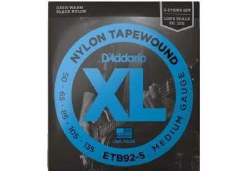 D'Addario ETB92-5 Medium 5-String / Long Scale Set - 5 Telli Bas Gitar Teli 50-135