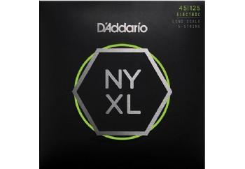 D'Addario NYXL45125 Light Top/Medium Bottom 5-String / Long Scale Set - Bas Gitar Teli 45-125