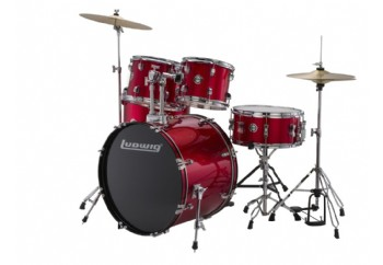 Ludwig Accent Fuse 5-Piece Drum Set Kırmızı - Akustik Davul Seti