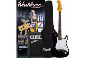 Washburn WS300 PACK Black - Elektro Gitar Seti