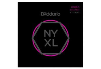 D'Addario NYXL0980 Super Light 8-String Set - 8 Telli Elektro Gitar Teli 09-80