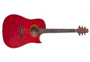 Samick CRLY-50CE - Fırsat Reyonu 1 TR - Transparan Kırmızı - Elektro Akustik Gitar