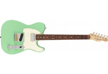 Fender American Performer Telecaster Hum Satin Surf Green - Rosewood - Elektro Gitar