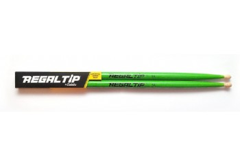 Regal Tip 205R 5A Wood Tip Drumsticks Green - Baget
