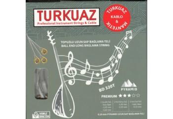Turkuaz BD 320T 0.20 mm Topuzlu Pyramid + İpek Bamlı Takım Tel - Uzun Sap Bağlama Teli 020
