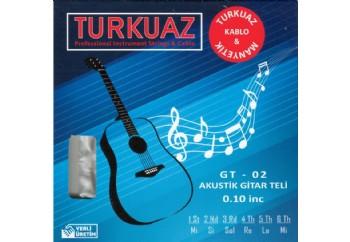 Turkuaz GT-02 Takım Tel - Akustik Gitar Teli 010