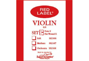 Super Sensitive Red Label Violin Set Re (D) - Tek Tel - Keman Teli