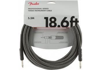 Fender Professional Series Instrument Cable, Tweed 5.5 Metre - Gray Tweed - Enstrüman Kablosu