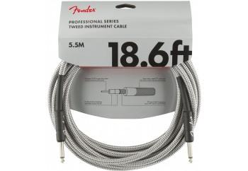 Fender Professional Series Instrument Cable, Tweed 5.5 Metre - White Tweed - Enstrüman Kablosu