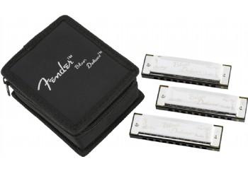 Fender Blues Deluxe Harmonicas 3-Pack with Case - Mızıka Seti