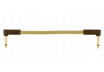 Fender Deluxe Series Instrument Cables, Tweed Tweed - Pedal ara kablosu (15 cm)