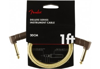 Fender Deluxe Series Instrument Cable, Tweed Tweed - 30cm - Enstrüman Kablosu
