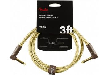 Fender Deluxe Series Instrument Cable Tweed - 90cm - Enstrüman Kablosu